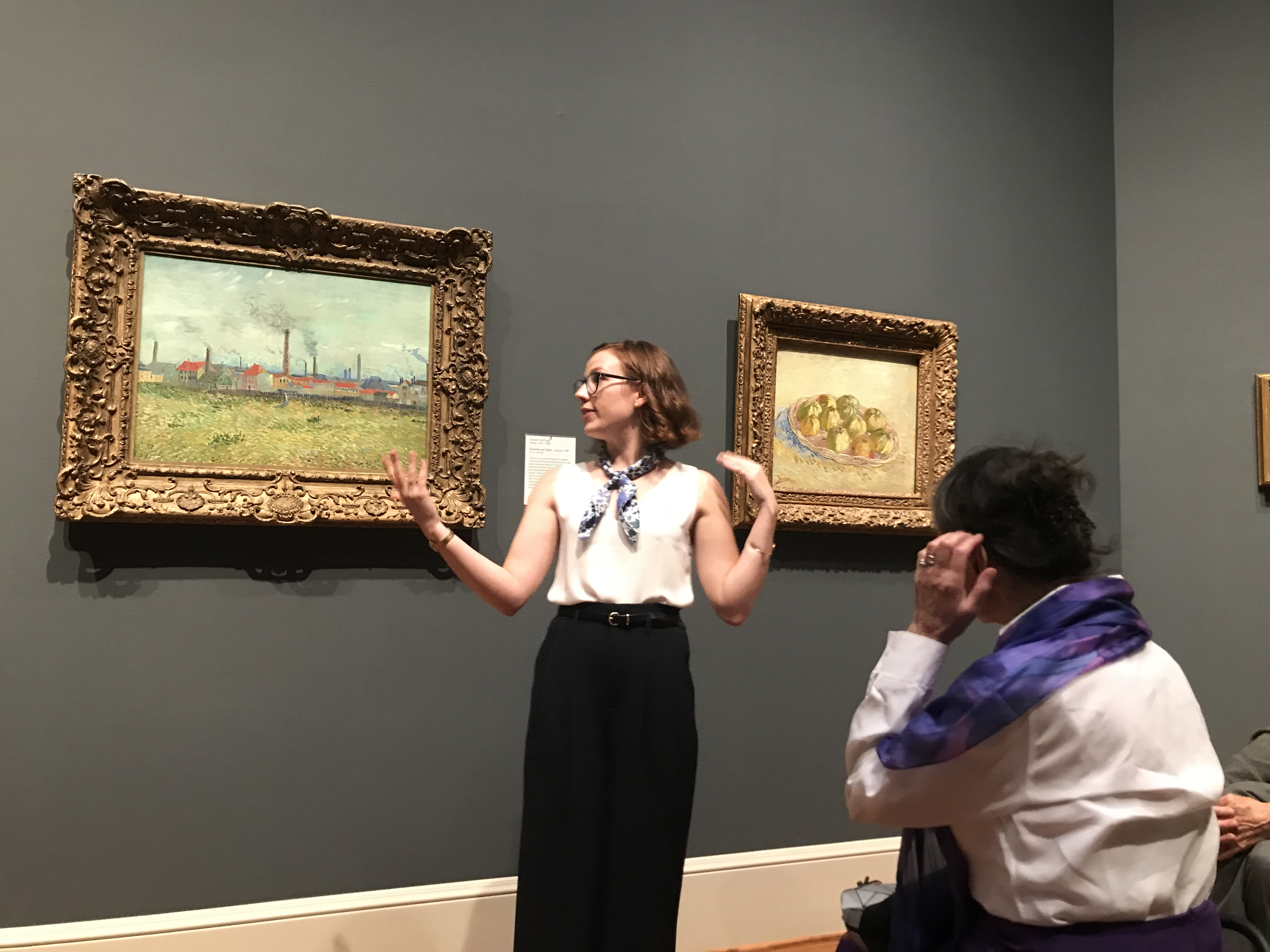 PhD Candidate Kirsten Marples giving gallery talk at the Saint Louis Art Museum