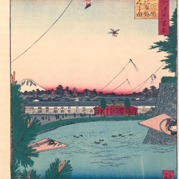Utagawa Ichiryusai Hiroshige, Yamashita-Cho, Hibaya, Soto Sakurada, from Meisho Edo, 1857.