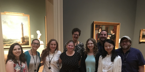 Dr. Childs and a group of graduate students at the Saint Louis Art Museum